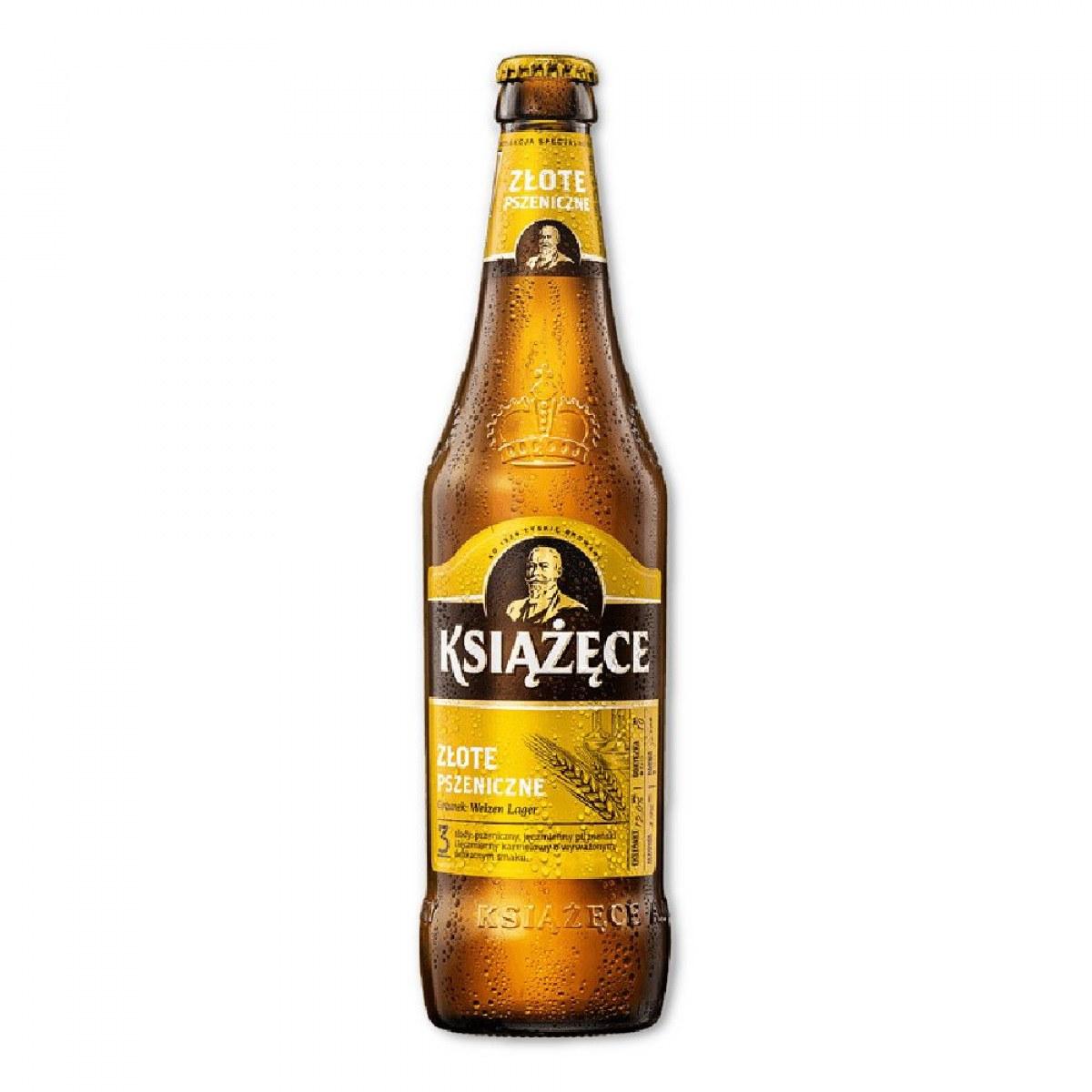 Piwo Książęce Złote Pszeniczne 05l Butelka Zwrotna Supermarket