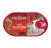 KING OSCAR FILETY ŚLEDZIOWE W SOSIE POMIDOROWYM 170G
