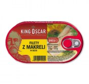 KING OSCAR FILETY Z MAKRELI W OLEJU 170G