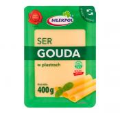 MLEKPOL SER PLASTRY GOUDA 400G