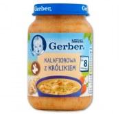 GERBER KALAFIOROWA Z KRÓLIKIEM 190G