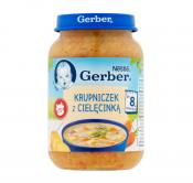 GERBER ZUPA 190G KRUPNICZEK Z CIELĘCINĄ