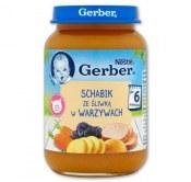 GERBER SCHABIK ZE ŚLIWKĄ W WARZYWACH 190G