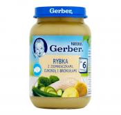 GERBER DANIE 190G ZIEMNIACZ.+GOTOWANA RYBA+NATKA PIETRZ.