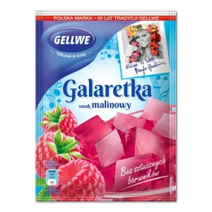 GELLWE GALARETKA MALINOWA 75G