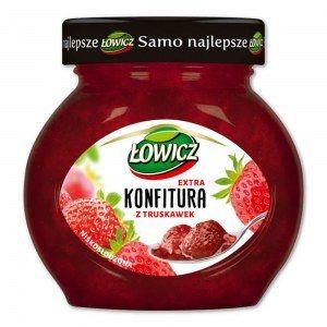 ŁOWICZ KONFITURA Z TRUSKAWEK 240G