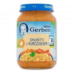 GERBER SPAGHETTI Z KURCZAKIEM 190G